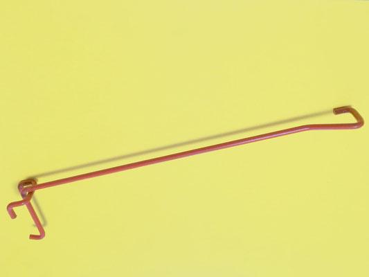 ART 160  GANCIO SINGOLO CON PORTA PREZZO,FILO DIAM. 3,80 – 4,80 MM