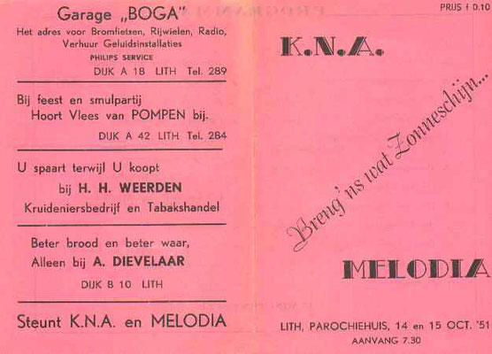 Het programmaboekje van 1951 - Ook toen waren er al sponsors.