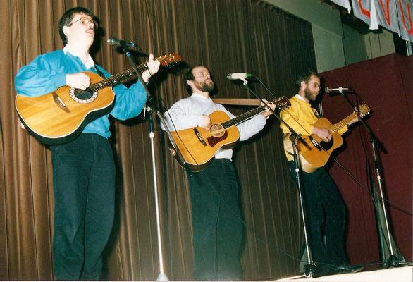 Hans Maas, Noud Bongers en Alex Thissen maakten deel uit van het trio Sik het zit wel snor.