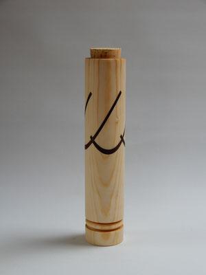 Behälter für Stricknadeln, Buntstifte o.ä., Fichte/Akazie/Kork, innen 3,7x22 cm, CHF 20.-, Lieferbar
