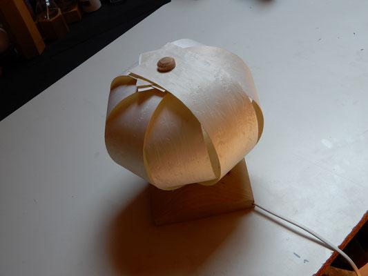 Wandlampe, Fichte/Vogelaugenahorn-Furnier     CHF 120.-