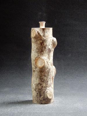 Stahlwerk, Holzsorte unbekannt,     für Pfeffer,     ca. 6 x 20 cm,     CHF 100.-
