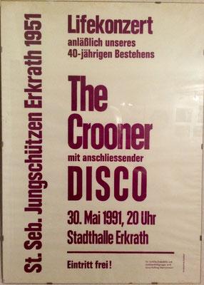 Der Beginn der Rocknacht der Jungschützen mit The Crooner 1991.