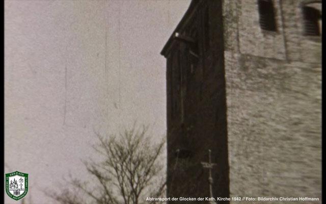 Abtransport der Glocken der Kath. Kirche 1942. Foto: Bildarchiv Christian Hoffmann