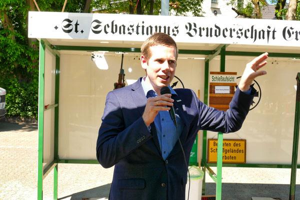 Einweihung des neuen Schießstandes am 06.05.2018: Bürgermeister Christoph Schultz (Foto: Peter Adelskamp)