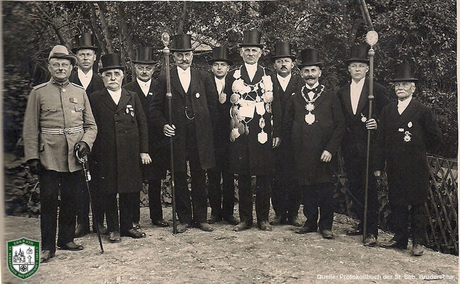 König 1929: Joseph Hucklenbroich. Quelle: Protokollbuch der SSB
