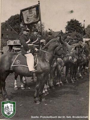 Reitercorps 1934. Quelle: Protokollbuch der SSB