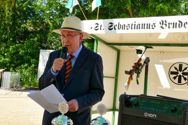 Einweihung des neuen Schießstandes am 06.05.2018: Hasso von Blücher (Foto: Peter Adelskamp)