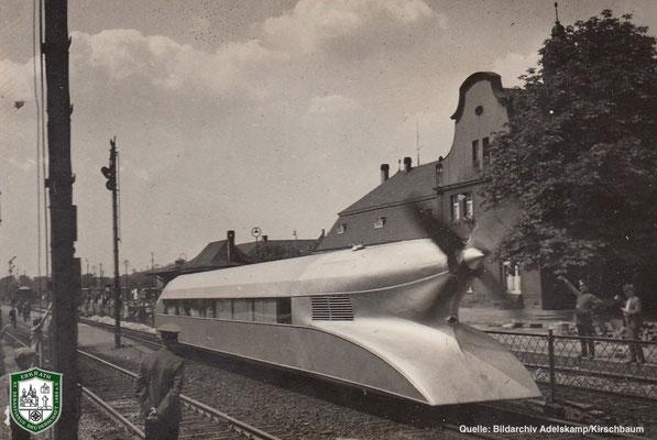 Schienenzeppelin um 1934. Quelle: Bildarchiv Adelskamp/Kirschbaum