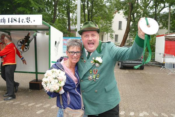 Königin Tina Pless und König Michael Wodicka. Bild: Peter Adelskamp