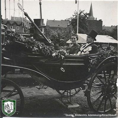 Königspaar 1934: Jacob und Margarethe Kirschbaum. Quelle: Bildarchiv Adelskamp/Kirschbaum