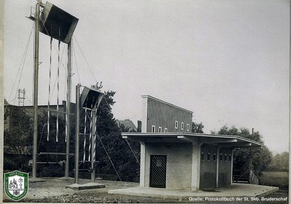 Der Schießstand der SSB von 1929. Quelle: Protokollbuch der SSB