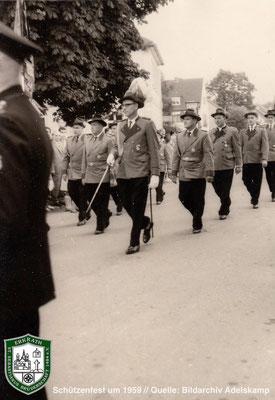Schützenfest um 1959. Quelle: Bildarchiv Adelskamp