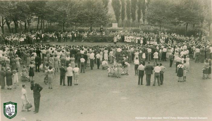 Heimholung der Glocken 1947. Quelle: Bildarchiv Horst Osmann