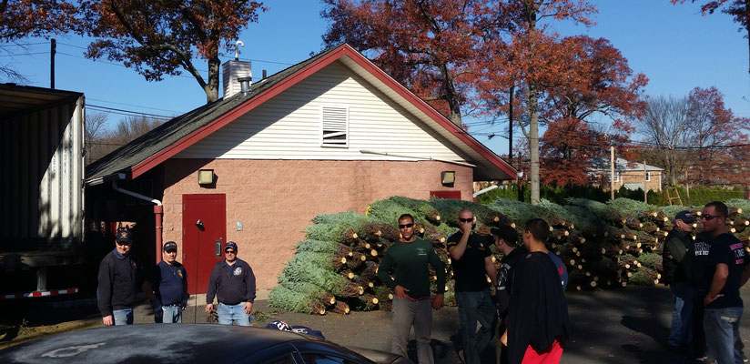 Fire Dept/Lions Club Christmas Tree Sale - Initial tree drop-off day