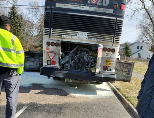 NJ Transit Bus Fire - Midway Avenue