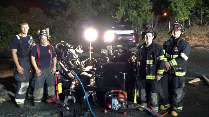 Vehicle Extrication Drill - Fanwood Recycling Center