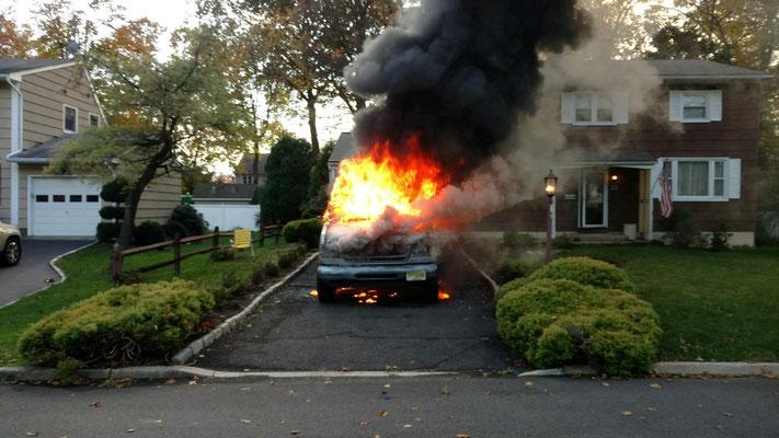 Vehicle fire on Byron Lane