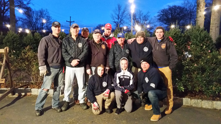 Members, family and friends of the Fire Department and Lions Club