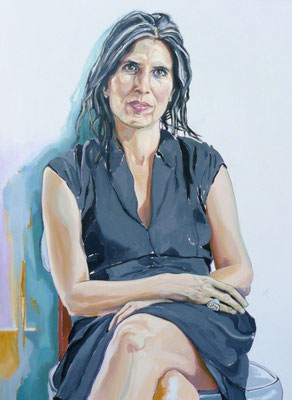 Holly (Portrait of A. Holland Houston), Oil on Canvas, 48 x 36 inches, 2013