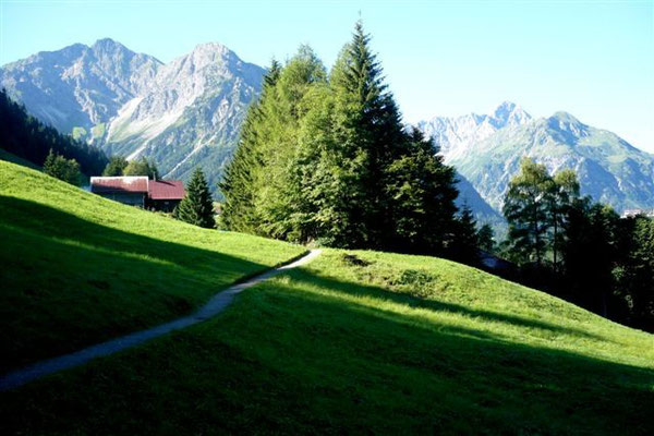 Höhenweg nach Mittelberg.