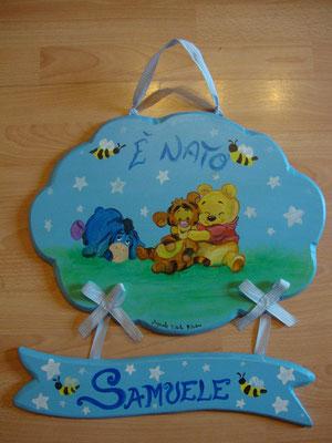 nuvoletta winnie the pooh con pergamena mis.40x40cm €50,00