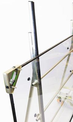 TSL 800 Glastransportwagen bis 800 kg Traglast ausziehbar transportsolution Polyurethanräder Baustelle Montage Glasscheibe Transportwagen