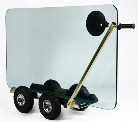TS 500 Air Tandem Glastransportwagen luftbereift bis 500 kg Tragkraft Plattentransportwagen, Glaswagen, Glastransportwagen, Glas-Transportwagen, Glas, Transportwagen, Transporthilfe, Scheibenwagen, Plattenwagen, Elementewagen, Glastransport, Glasmontage