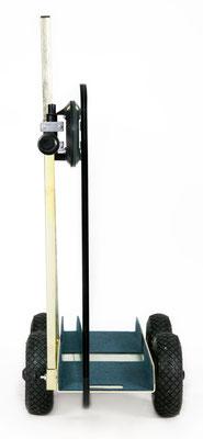 TS 250 Air Tandem luftbereift Glastransportwagen mit Wood´s Powr-Grip Vakuum Handsauger transportsolution Plattentransportwagen, Glaswagen, Glastransportwagen, Glas-Transportwagen, Glas, Transportwagen, Transporthilfe, Scheibenwagen, Plattenwagen, Element