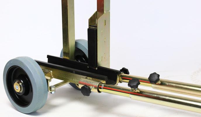 TS 700 Glaswagen bis 700 kg Traglast sehr schmal Gerüst Baustelle transportsolution