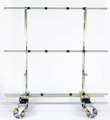 TSL 1000, Glaswagen, Glastransportwagen, Transportwagen, bis 1000 kg, Glastransportgestell