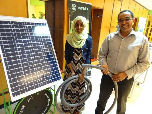 Solarbetriebene Bewässerungspumpe