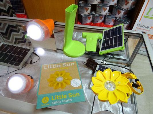 Sortiment an Solarlampen