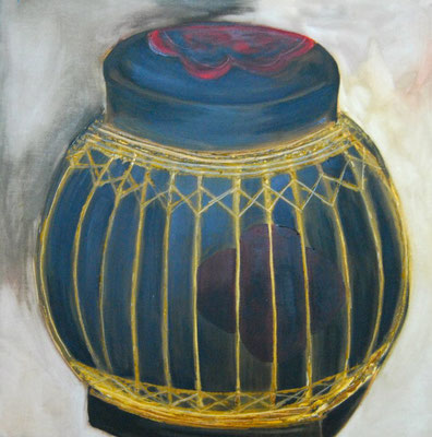 Rice container / oil on canvas