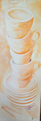 Cups / oil on canvas