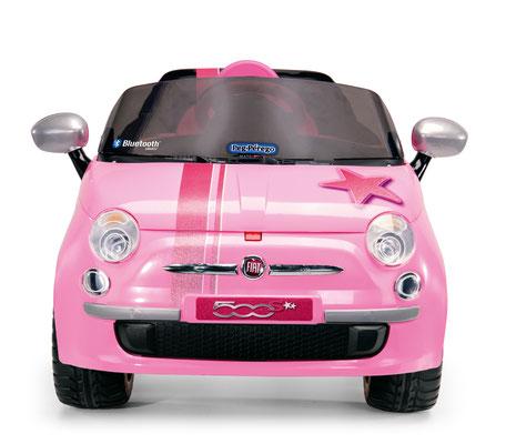 fiat 500 star pink spielfahrzeug elektroauto frontansicht