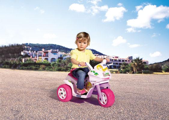 mini princess elektromotorrad spielfahrzeug in betrieb