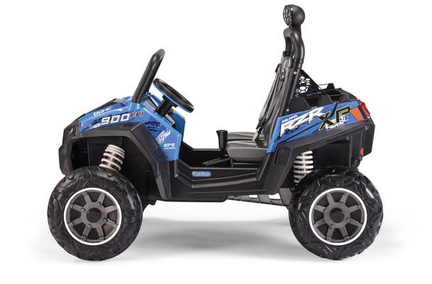 polaris ranger rzr 900 blu quad elektrofahrzeug spielfahrzeug seite