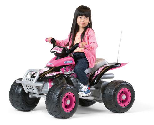 corral t-rex pink quad elektrofahrzeug spielfahrzeug in betrieb