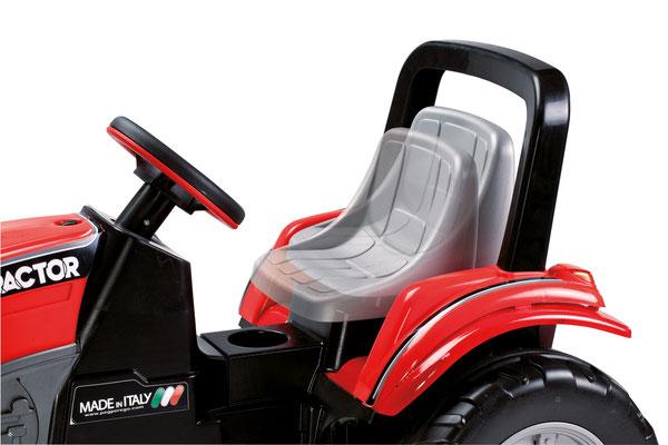 maxi diesel tractor mit anhänger tretfahrzeug spielfahrzeug profil