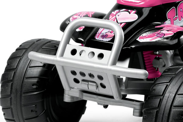corral t-rex pink quad elektrofahrzeug spielfahrzeug detail front