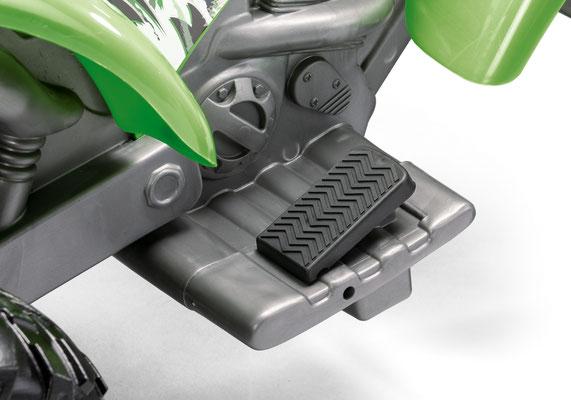 corral bearcat quad 6v spielfahrzeug pedal detail