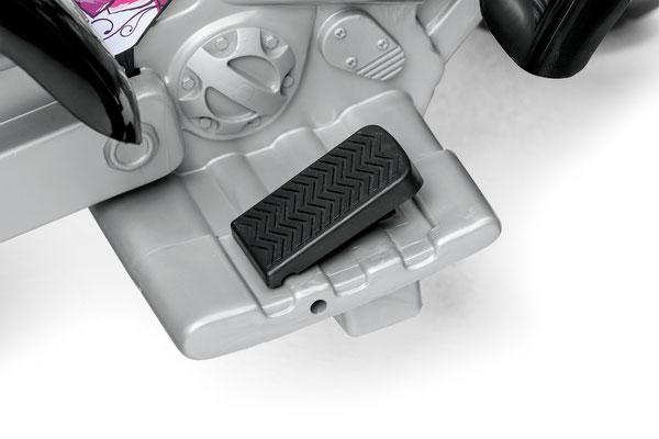 corral t-rex pink quad elektrofahrzeug spielfahrzeug detail pedal