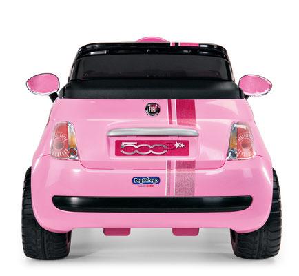fiat 500 star pink spielfahrzeug elektroauto hinteransicht