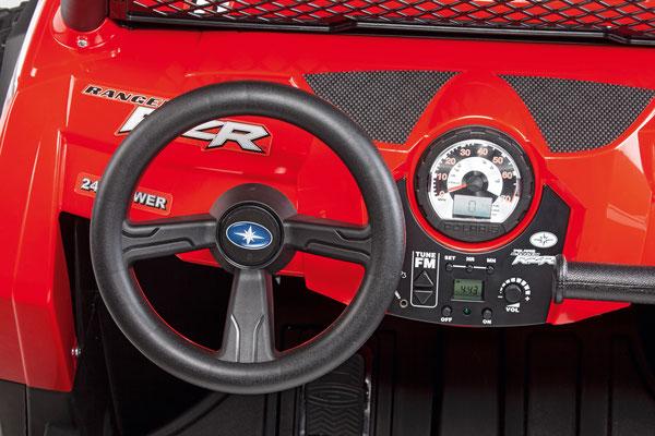 polaris ranger rzr 24v quad elektrofahrzeug spielfahrzeug detail lenkrad