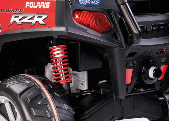 polaris ranger rzr 24v quad elektrofahrzeug spielfahrzeug detail stoßdämpfung
