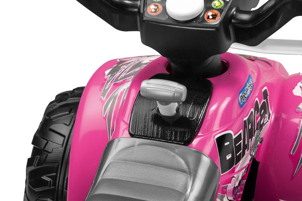 corral bearcat pink quad spielfahrzeug detail lenkung