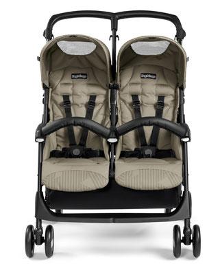Kinderwagen Zwillingswagen Aria Shopper Twin front