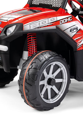 polaris ranger rzr 24v quad elektrofahrzeug spielfahrzeug detail rad