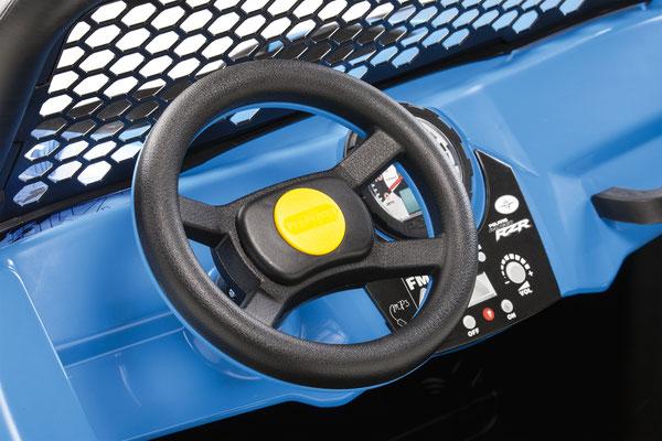 polaris ranger rzr 900 blu quad elektrofahrzeug spielfahrzeug lenkrad detail